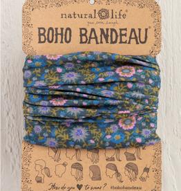 NATURAL LIFE CREATIONS Boho Bandeau Indigo Floral Vines