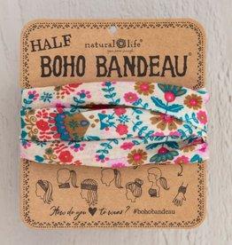 NATURAL LIFE CREATIONS Half  Boho Bandeau Cream Floral Mandala