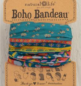 NATURAL LIFE CREATIONS Boho BandeauTurq Floral Border