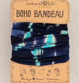 NATURAL LIFE CREATIONS Boho Bandeau Turq/Navy TieDye
