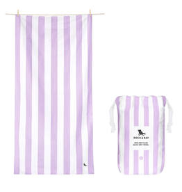 DOCK & BAY Quick Dry Beach Towel Cabana Lombak Lilac XL