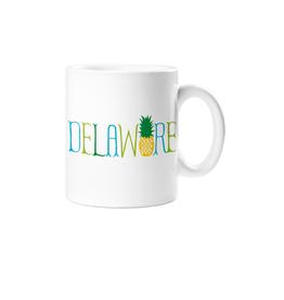 ROCK SCISSOR PAPER Mug My Town  Delaware - Pineapple