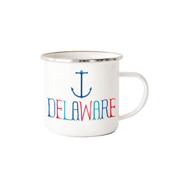 ROCK SCISSOR PAPER Delaware Camp Town Mug with Anchor