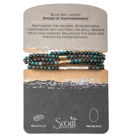 SCOUT CURATED WEARS Blue Sky Jasper Stone of Empowerment