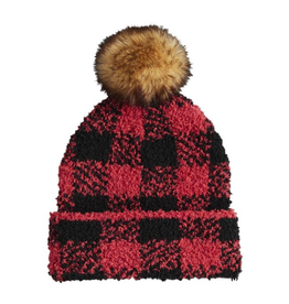 MUDPIE Red Buffalo Check Hat Infant