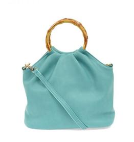 JOY ACCESSORIES, INC Natalie Bamboo Handle Pouf Bag