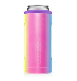 BRUMATE LLC Hopsulator Slim Glitter Rainbow 12oz
