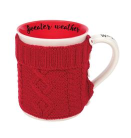 16 oz Mug Cozy Sweater Wrap