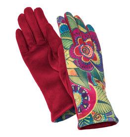HOWARD'S INC Suede Glove Printed