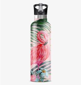MY BOUGIE BOTTLE Stainless Steel Water Bottle 25 oz. Flamingo