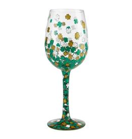 LOLITA  Shamrock Wine Glass
