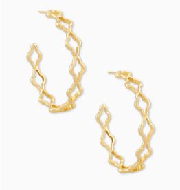 KENDRA SCOTT Abbie Hoop Earrings Gold