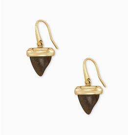 KENDRA SCOTT Drop Earrings Oleana Golden Obsidian Gold