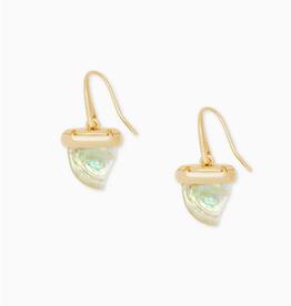 KENDRA SCOTT Drop Earrings Oleana Iridescent Abalone Gold
