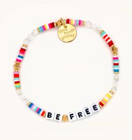 LITTLE WORDS PROJECT Beaded Bracelet Be Free