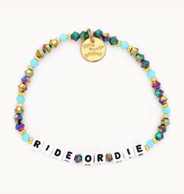 LITTLE WORDS PROJECT Beaded Bracelet Ride or Die