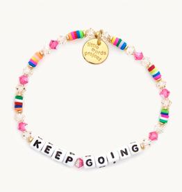 LITTLE WORDS PROJECT Beaded Bracelet Keep Going Boujee