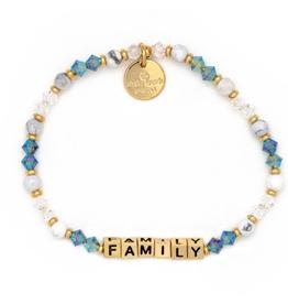 LITTLE WORDS PROJECT Beaded Bracelet Family Moonshine Gold