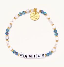 LITTLE WORDS PROJECT Beaded Bracelet Family Moonshine White
