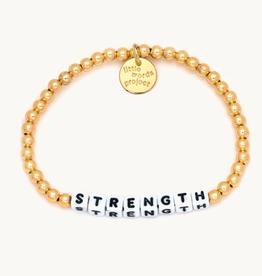 LITTLE WORDS PROJECT Bracelet Solid Gold Filled Strength