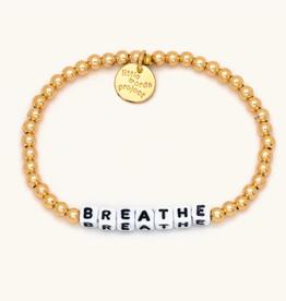 LITTLE WORDS PROJECT Bracelet Solid Gold Filled Breathe