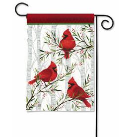 Garden Flag Cardinals in Birch