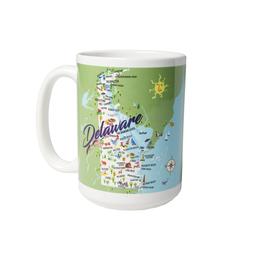 GALLEYWARE Mug Delaware State Map