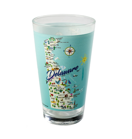 GALLEYWARE Pint Glass Delaware State Map