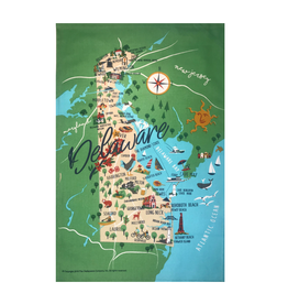 GALLEYWARE Kitchen Towel Delaware State Map