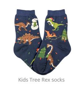 FOOT TRAFFIC USA Kids Socks Tree Rex
