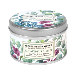 MICHEL DESIGN WORKS 4 oz. Travel Candle Eucalyptus & Mint