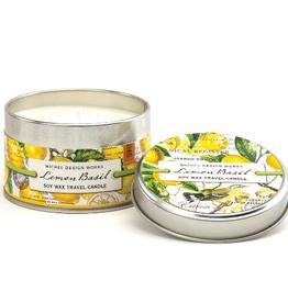 MICHEL DESIGN WORKS 4 oz Travel Candle Lemon Basil