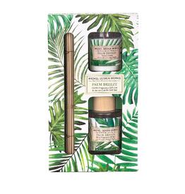 MICHEL DESIGN WORKS Palm Breeze Home Diffuser & Votive Candle Set