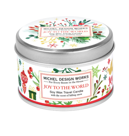 MICHEL DESIGN WORKS 4 oz. Travel Candle Joy To The World