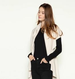 LOOK BY M Basic Shawl Vest Cream