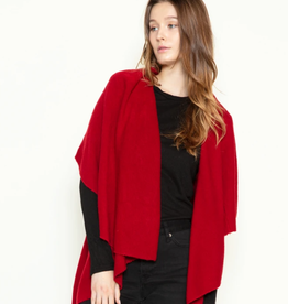 LOOK BY M Basic Shawl Vest Red