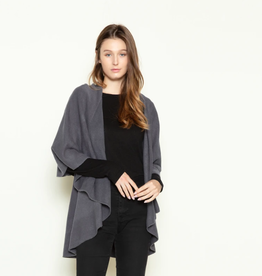 LOOK BY M Basis Shawl Vest Midnight