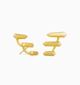 KENDRA SCOTT Earring Billie Climber Gold Metal
