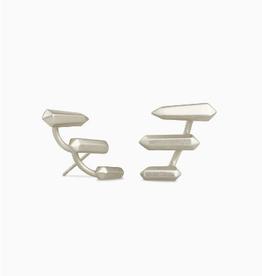 KENDRA SCOTT Earring Billie Climber Rhodium Silver Metal