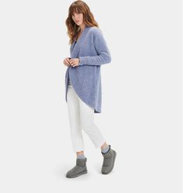 UGG Fremont Fluffy Cardigan Sweater Dark Ice XSmall