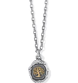 BRIGHTON Ferrara Virtue Oak Tree Pendant Necklace-Silver-Gold