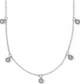 BRIGHTON Twinkle Splendor Droplet Necklace Silver OS