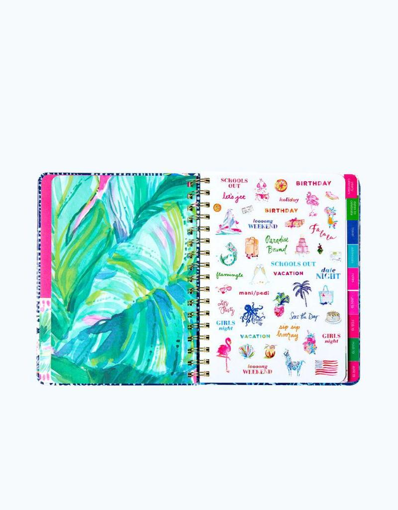LIFEGUARD PRESS INC. Navy Flamingo Large Agenda Aug 2018-Dec 2019