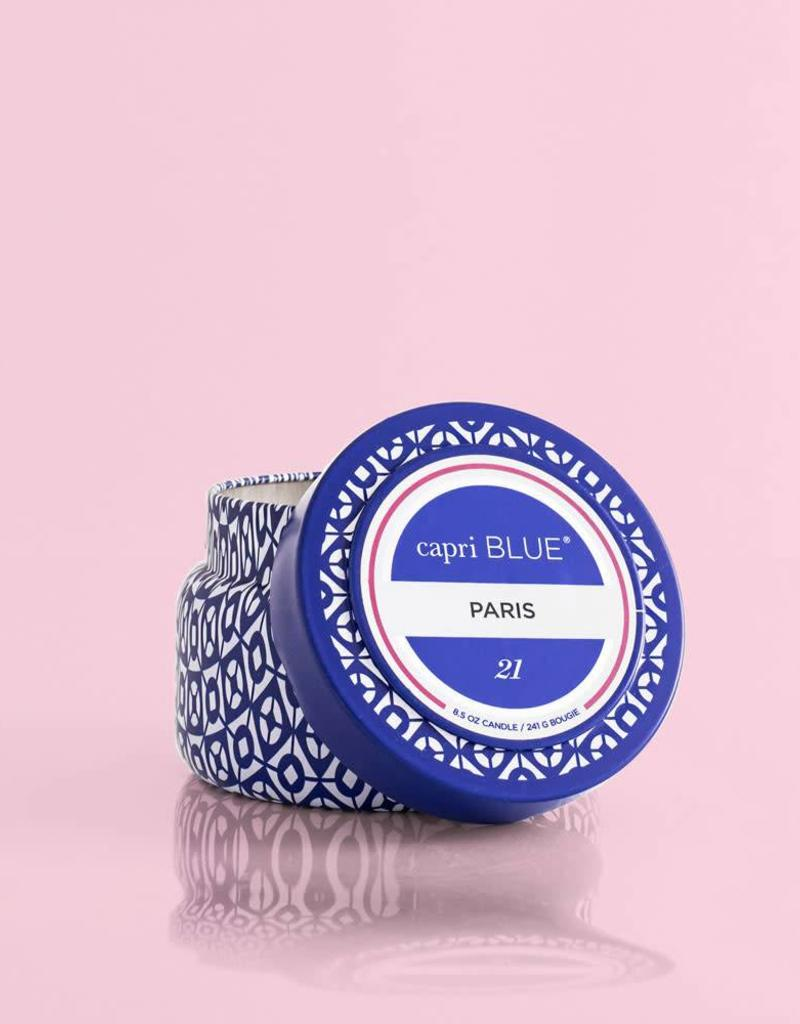 CAPRI BLUE/DPM FRAGRANCE 8.5oz TRAVEL TIN Paris No 21 SIGNATURE COLLECTION
