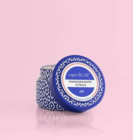 CAPRI BLUE/DPM FRAGRANCE Pomegranate Citrus Blue Signature TRAVEL Tin 3 oz SIGNATURE COLLECTION