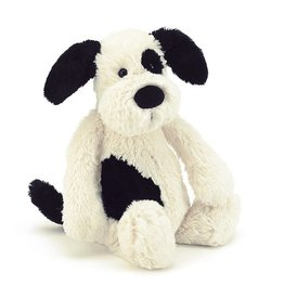 JELLYCAT INC. Bashful Black/Cream Puppy Medium
