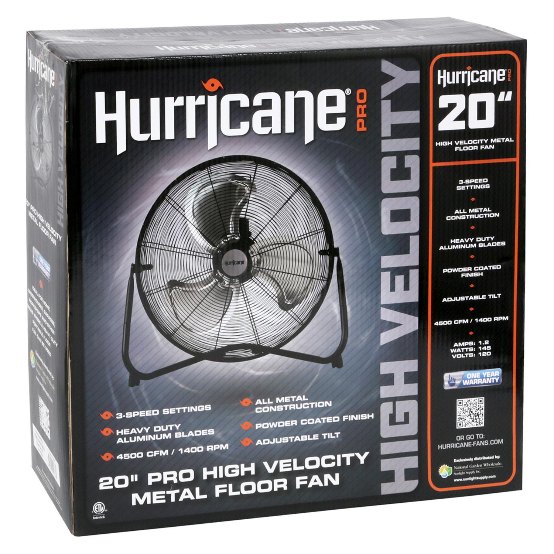 "Hurricane Hurricane - High Velocity Metal Floor Fan 20"""