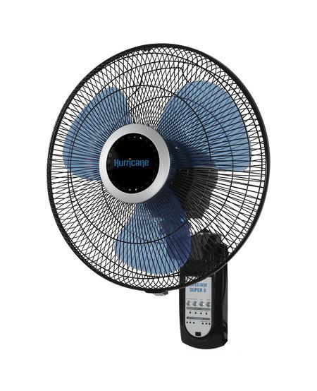 "Super 8 Oscillating Digital Wall Mount Fan 16"""