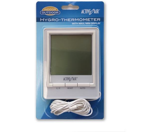 Active Air Active Air - Hygro-Thermometer w/ Min Max Display