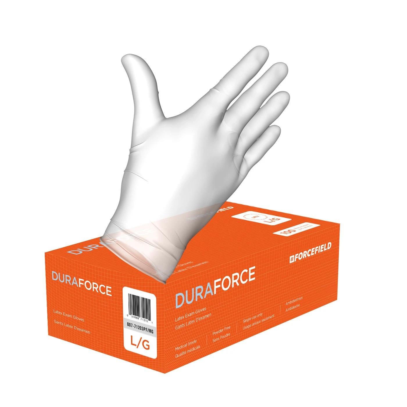 Duraforce Duraforce - White Latex Exam Gloves